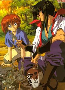 Seijuro Hiko and kenshin himura (Rouroni kenshin)