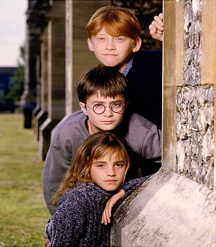 This one !!!! Here they all are beautiful :)))) I think that Ron and Harry were beautiful only when they were little children. Only Hermione is beautiful always :))))))) Maybe in 2016-2018 she will real supersexy woman ;)