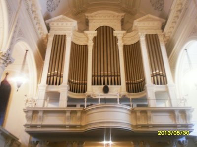 Mine was supposed to end Wednesday but we have to make up a दिन so it ended Tuesday. I went to Boston for the first time. It was a church youth group trip. We learnt about Unitarian Universalism and when we went to Improv Boston, we learnt about improv. The picture is the organ at the Arlington सड़क, स्ट्रीट Church [i](which is my प्रिय place)[/i] and it has 3,640 pipes. It was installed in 1957 and boy, was it massive. The church was absolutely beautiful.