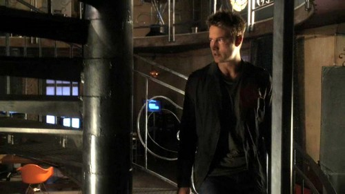 "Ollie descending the stairs of uitkijktoren (from ""Shield"") <333"