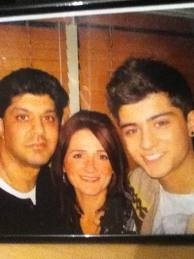 from left is Zayn's dad.