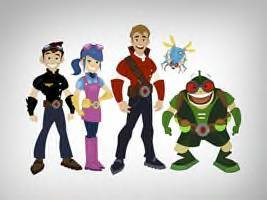 My all-time प्रिय is Dex Hamilton: Alien Entomologist. here's a picture of the characters: