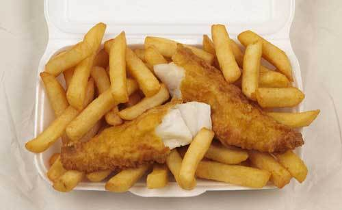 poisson and Chips-made out of cod