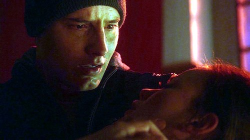 "Another gorra, cap from ""Pandora"", with Ollie holding Tess and about to cry :("