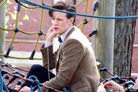 Matt in a children playground