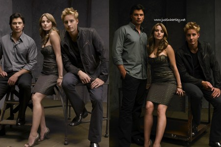 Justin with Erica and Tom in the promo shoot for Season 6 <333