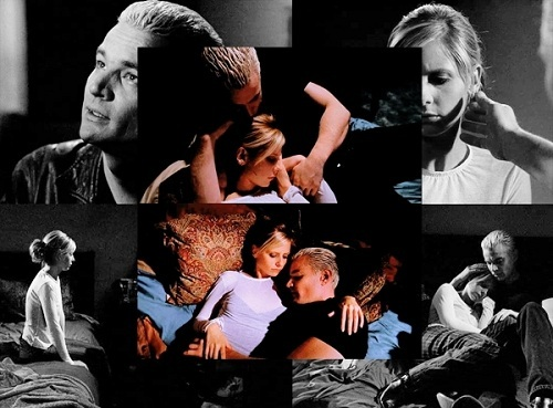 "1. The scenes from ""Touched"" in the abandoned house where Spike comforts and holds Buffy, giving her strength...especially where he tells her she's a ""hell of a woman."" 2. The church scene in ""Beneath You"" when Buffy learns that Spike has a soul. 3. Willow's spell from ""Something Blue"" that makes the couple think they're engaged. I especially 愛 the bantering at the beginning. 4. The very end of ""Fool For Love"" where Spike confronts Buffy on her back porch and ends up sitting with her instead of killing her. 5. The last scene of ""Intervention"" where Spike reveals he didn't say anything to Glory and Buffy thanks him with a kiss. 6. The very end of ""Once もっと見る With Feeling"" where we see their first intense kiss. 7. ""Chosen"" -- their last scene together. 8. The last scene of ""Smashed"" going into... 9. Their morning after scene in ""Wrecked"" 10. When Buffy rescues Spike from the First at the end of ""Showtime."""