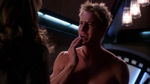 """Ollie holding his lip after Lois has punched him (from """"Siren"""") <33"""