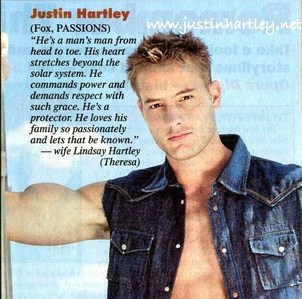 "Clipping from ""Soap Opera Digest"" with probably the most beautiful thing being dicho about Justin <333 (hope that's ok)"