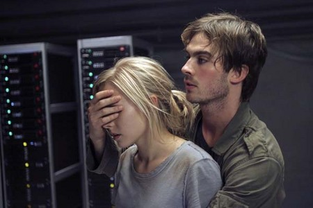 Ian Somerhalder with Kristen campana in the American remake of Pulse
