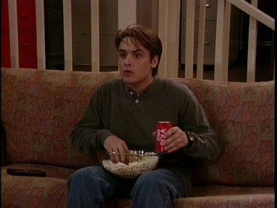 Matthew's co-star, Will Friedle with a coke in his hands. :)
