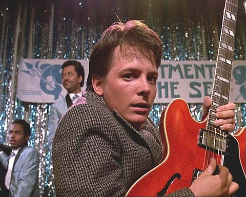 Michael J. Fox. He's not my favourite actor, but he's awesome. This image is so classic...