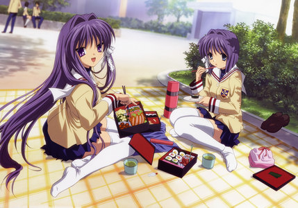 Kyou and Ryou from Clannad.