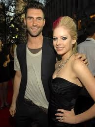 Avril and lead singer of Maroon 5.....
