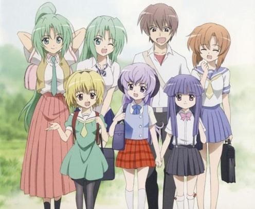 The Higurashi No Naku Koro Ni main cast.