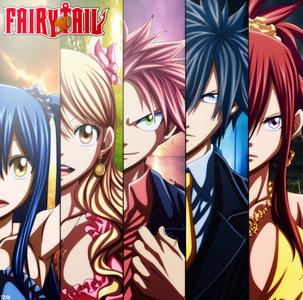 These are some pretty awesome animes I recommen~ - Fairy Tail - durarara!! - gintama - Kuroko no Basket - Cardfight!! Vanguard - Okami-san and her Seven Companions - Lucky estrella - Kaichou wa Maid-sama - K-ON! - Katekyo Hitman Reborn - Mirai Nikki - Higurashi - ángel Beats - Clannad - The Disappearance of Haruhi Suzumiya - Black Butler - Eflen Lied *Pic is Fairy Tail*