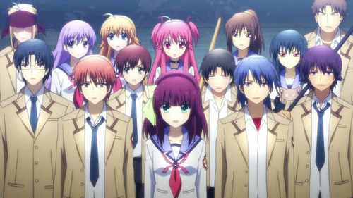 Haha, I dislike Ecchi too. Ick. Here's a really heartwarming one… ANGEL BEATS! It has only about 2 canon couples out of the whole cast.