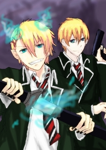Syo and Kaoru~ Kurusu Brothers (while cosplaying as Blue Exorist XD )