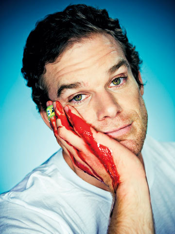 With blood? Who else than Dexter!