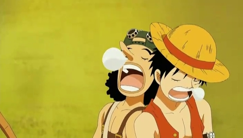Luffy& Ussop sleeping - (One piece) they r both hilarious.............heh he heh