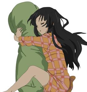 Mio and her bodypillow XD