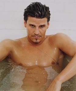 David Boreanaz in a tub looking HOT!!!! :P