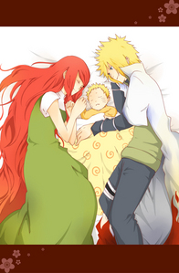 The Namikaze Family. <33 Minato's awake though. ~