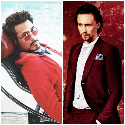 *-* !Downey and Hiddleston! *-* They did 'The Avengers' together but I'd really like to see them together on Screen again :3