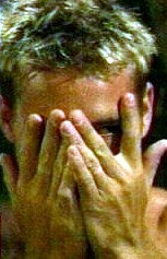 """my sweetie in an episode of """"Passions"""", playing peek-a-boo with us ;)) <3333"""