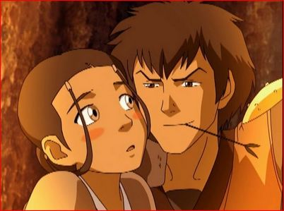 No 你 didn't miss anything, they just didn't 显示 it. And I guess Aang was just oblivious to Katara's crush on Jet.