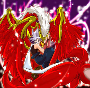 Beyblade this Anime have greek mythlogical bitbeast sealed inside their Beyblade my fav character is kai.........he have dranzer which is a phoenix (a greek mythological bird born from fire) sealed inside his beyblade........ this Anime consist of full mythological beasts