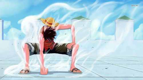 Luffy in gear saat state.....(one piece) My laptop current wallpaper, this scene always makes my skin quiver..............heh he eh