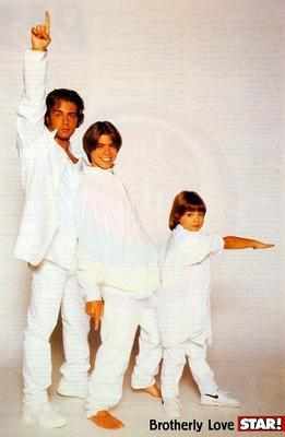 The Lawrence brothers in white suits. <333