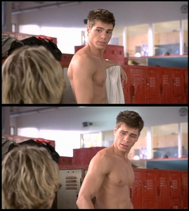 My Baby shirtless in two scenes. <333333
