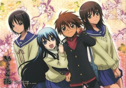 Yuri Keikan, Yuki Onna, Rikuo Nura and Kana Ienaga from Nurarihyon No Mago.
