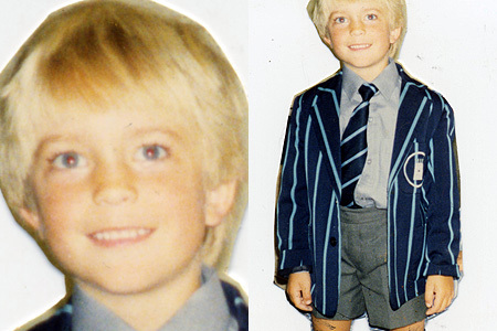my baby with blonde hair as a kid(though he doesn't have blonde hair now)<3