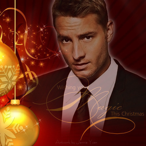 a Christmas-themed manip of my hottie <333