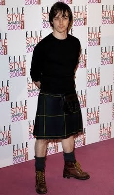 James McAvoy(from Atonement and X Men:First Class) in a kilt.