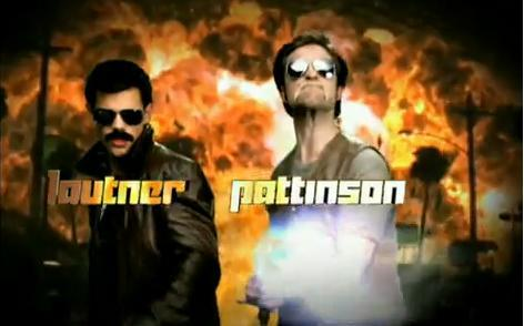 my baby(on the R) and his Twilight co-star,Taylor doing a funny opening on the एमटीवी Movie Awards a couple of years ago.Taylor Lautner and Robert Pattinson: Bad नितंब, गधा Cops...haha,LOL!!!! Their mustaches alone are funny<3