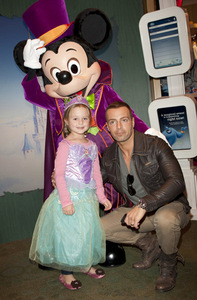 Joey and his daughter, Liberty with Mickey Mouse. <3333