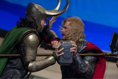 my hot Tom Hiddleston as sexy loki and chris hemsworth as thor