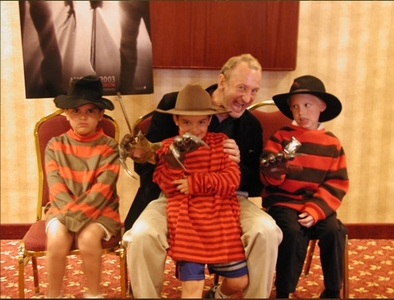 So cute. Little kids in Freddy costumes.