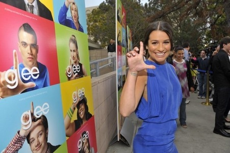 I think she smiles best when she is on Glee!