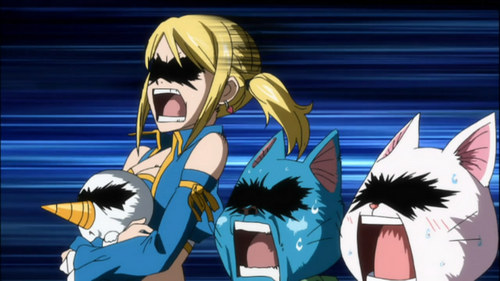 Well, I did have a dream about being in the Anime Fairy Tail, and I was a Snow Dragon Slayer, and of course I joined the Fairy Tail Guild. I was a part of Team Natsu, and we did alot of missons, and I don't know why but Gray-sama was my sensei. We did some crazy stuff. Oh! Just got an idea, I'm gonna make a story outta this ^.^ Also the image below. That's my reaction, when I saw Gray... Im gonna stop there