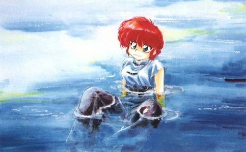 I had a dream that I was Ranma and turned into a girl when splashed with cold water.