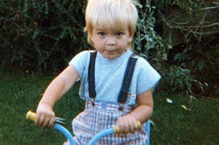 my blonde haired baby(Robert Pattinson) as a toddler on his tricycle.How cute was he at age 3?And now look at him..he's way past the cute stage and is HOT,SEXY,GORGEOUS..and any other word u can think of<3