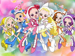 I suggest Tokyo Mew Mew, Sailor Moon, Lucky star,Cardcaptor Sakura, Ojamajo Doremi (Neon Genesis Evangelion might be too inappropriate even though I'm still twelve) Pretty Cure might sound gay but is pretty good PPGZ (PowerPuff girls Z) and yeah...