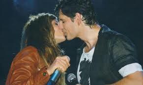Sakis Rouvas with the Greek singer Anna Vissi