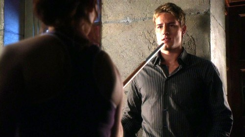 """Ollie in a scene from """"Committed"""", where the sportive fight with Tess is about to take a quite romantic turn <3333"""