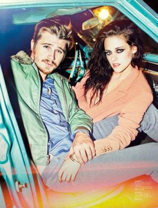 here is my baby's girlfriend,Kristen Stewart with her On the Road co-star,Garrett Hedlund at a photoshoot.